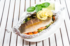 Geschmackvolle gebackene Fische Lizenzfreie Stockbilder