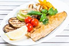 Geschmackvolle gebackene Fische Lizenzfreie Stockfotos