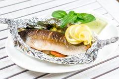 Geschmackvolle gebackene Fische Lizenzfreies Stockfoto