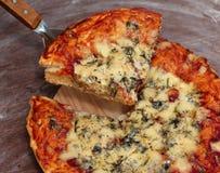 Geschmackvolle gebackene Pizza Stockfotografie
