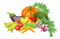 Geschmackvolle Gemüseabbildung Stockfoto