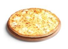 Geschmackvolle heiße Käsepizza stockbilder