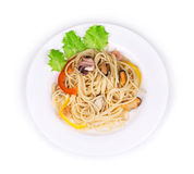 Geschmackvolle italienische Teigwaren Lizenzfreies Stockbild