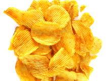 Geschmackvolle Kartoffelchips Stockfoto