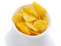 Geschmackvolle Kartoffelchips Lizenzfreie Stockbilder