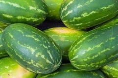 Geschmackvolle Melonen auf einem Markt Lizenzfreies Stockfoto