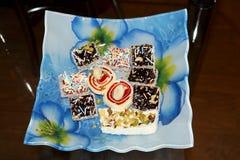 Geschmackvolle orientalische Bonbons, türkische Freude Stockbild