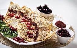 Geschmackvolle Pfannkuchen Stockfotografie