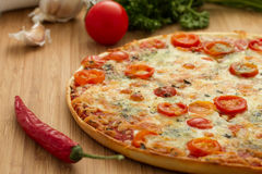 Geschmackvolle Pizza Lizenzfreie Stockbilder