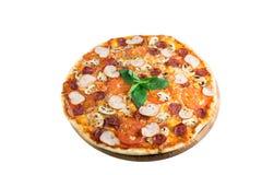 Geschmackvolle Pizza Stockfoto