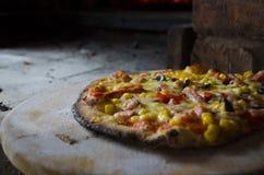 Geschmackvolle Pizza Lizenzfreie Stockfotos