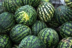 Geschmackvolle, reife Wassermelone Stockbild