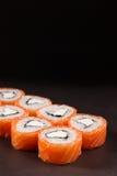 Geschmackvolle Rollen-Philadelphia-Sushi Stockbild