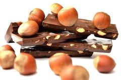 Geschmackvolle Schokolade mit Haselnüßen Lizenzfreie Stockbilder