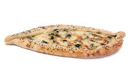 Geschmackvolle türkische Pizza Lizenzfreie Stockfotografie