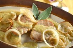 Geschmackvolle Thunfische mit dem Kleiden Lizenzfreie Stockfotos