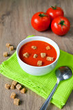 Geschmackvolle Tomate-Suppe Stockfoto