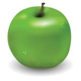 Geschmackvoller grüner Apfel mit wenigen waterdrops auf ihm Lizenzfreie Stockbilder