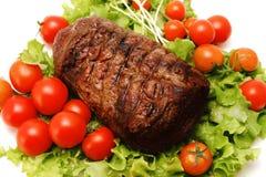 Geschmackvoller großer Fleischschnitt des Bratens Lizenzfreie Stockfotografie