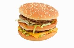 Geschmackvoller Hamburger, Cheeseburger Lizenzfreies Stockfoto