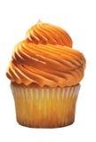 Geschmackvoller kleiner Kuchen mit orange Vereisung Stockbild