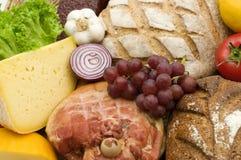 Geschmackvoller Nahrungsmittelhintergrund Stockbild