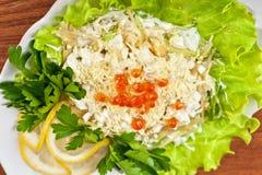 Geschmackvoller Salat stockfotografie
