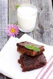 Geschmackvoller Schokoladenkuchen Lizenzfreie Stockfotos
