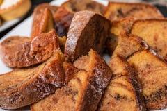 Geschmackvoller selbst gemachter traditioneller Fruchtkuchen lizenzfreie stockfotos