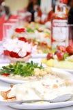 Geschmackvolles Abendessen Stockfotografie