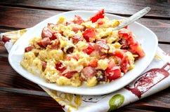 Geschmackvolles Frühstück morgens Stockbilder