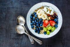 Geschmackvolles Frühstück von Haferflocken stockbilder