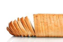 Geschmackvolles geschnittenes ââwhite Brot Stockfotografie