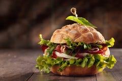 Geschmackvolles italienisches Sandwich Stockfotografie