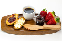 Geschmackvolles kontinentales Frühstück Stockfotografie