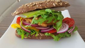 Geschmackvolles Mittagessen mit gesundem Gemüse stockfotografie