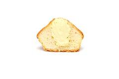 Geschmackvolles Muffin auf weißem Hintergrund stockfotos