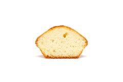 Geschmackvolles Muffin auf weißem Hintergrund lizenzfreies stockfoto
