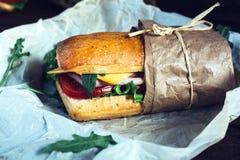 Geschmackvolles panini Sandwich stockbild