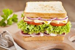 Schinkensandwich stockbild