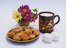 Geschmackvolles und nützliches Frühstück Lizenzfreie Stockbilder