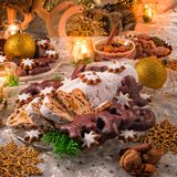 Geschmackvolles Weihnachten Stollen stockfoto