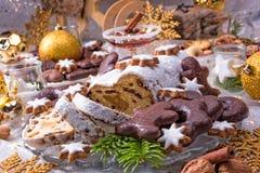 Geschmackvolles Weihnachten Stollen Lizenzfreie Stockbilder