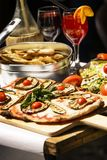 Geschmecktes und berühmtes italienisches Lebensmittel stockfotos
