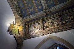 Geschmerzte Platten, Wolldecken-Kapelle, Wales Stockfoto