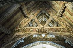 Geschmerzte Platten, Wolldecken-Kapelle, Wales Lizenzfreies Stockbild