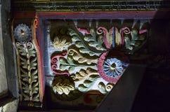 Geschmerzte Platten, Wolldecken-Kapelle, Wales Lizenzfreie Stockfotos
