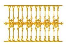 Geschmiedete dekorative Torverzierung lokalisiert auf weißem Hintergrund Lizenzfreies Stockbild