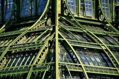 Geschmiedete Stahl- und Glasarchitektur Stockbild