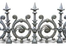 Geschmiedeter dekorativer Zaun Stockfotografie